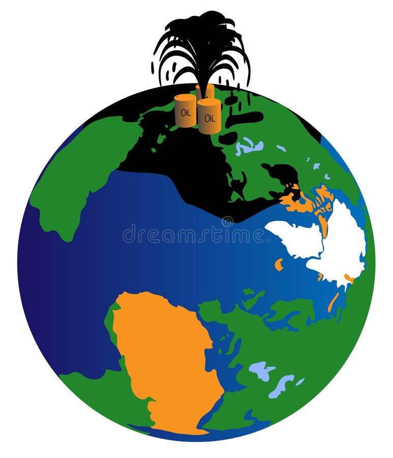 地球油 免版税图库摄影