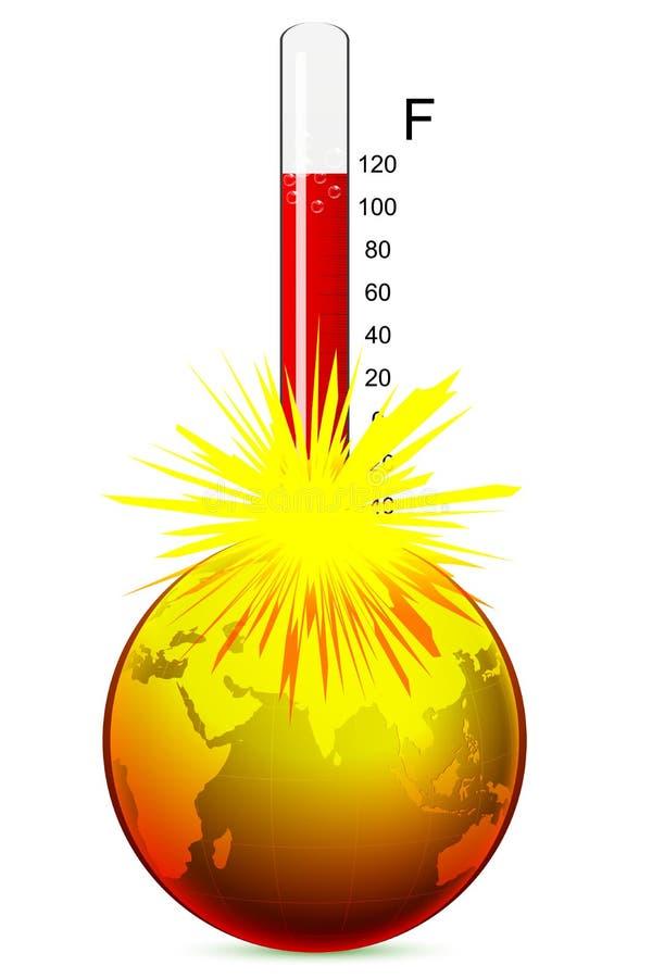 地球温度 库存例证