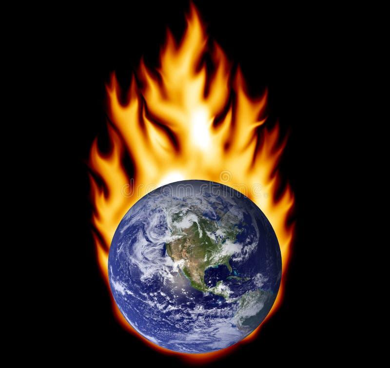 地球火 皇族释放例证