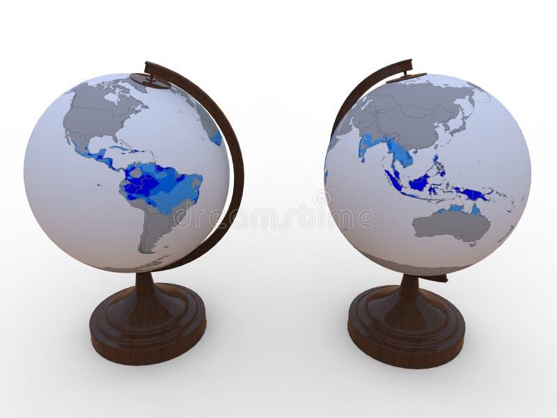 地球热带地区 皇族释放例证