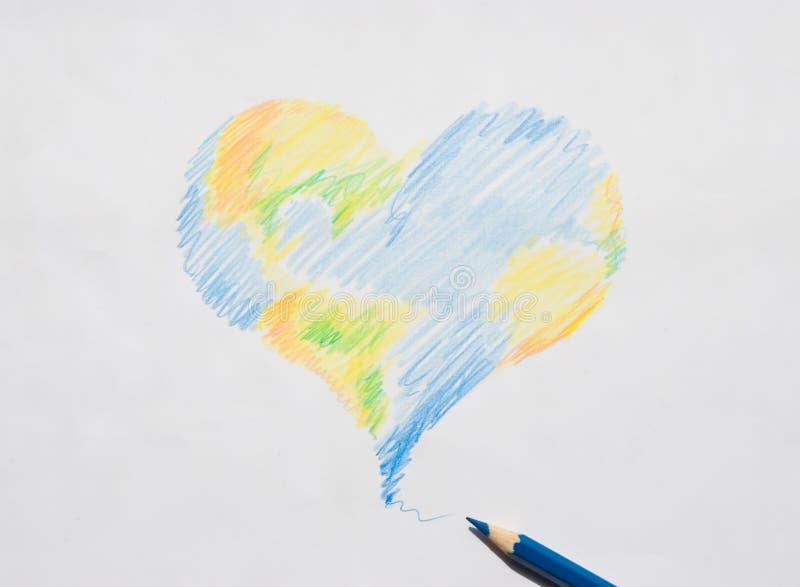地球爱 免版税库存照片