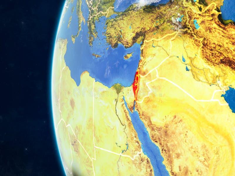 地球的以色列从空间 皇族释放例证