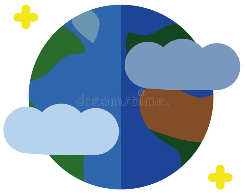 地球的传染媒介例证 免版税库存照片