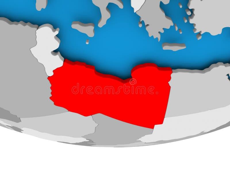 地球的利比亚 库存例证