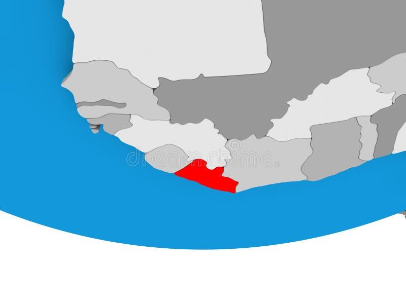 地球的利比里亚 向量例证