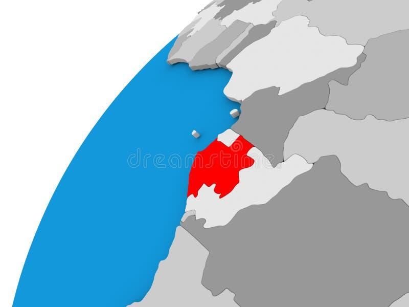 地球的加蓬在红色 皇族释放例证