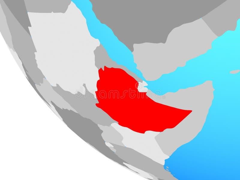 地球的埃塞俄比亚 库存例证