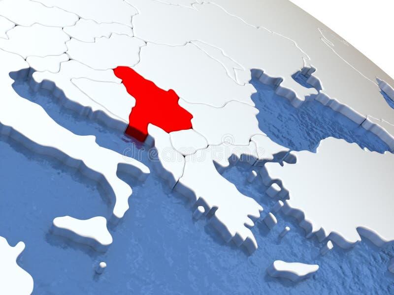 地球的塞尔维亚 库存例证