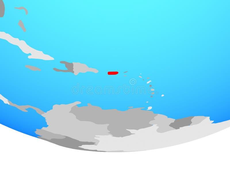 地球的波多黎各 向量例证