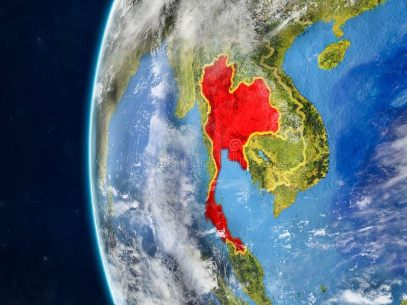 地球的泰国从空间 向量例证