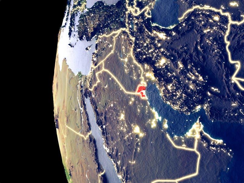 地球的科威特从空间 皇族释放例证