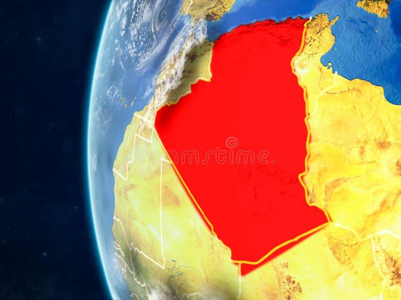 地球的阿尔及利亚从空间 皇族释放例证