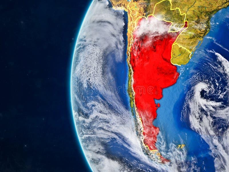地球的阿根廷从空间 向量例证