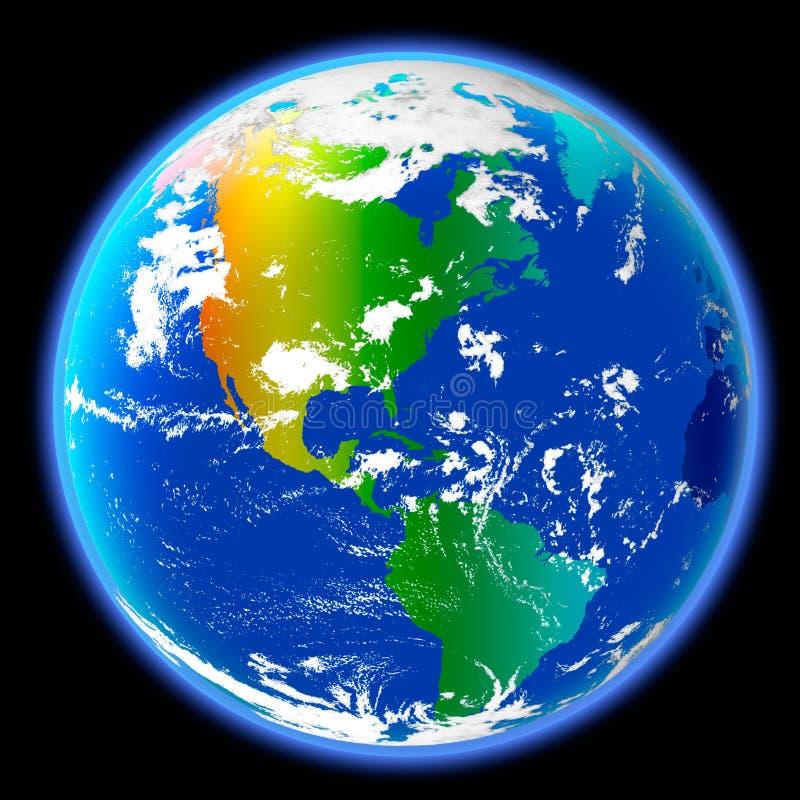 地球的颜色 免版税库存图片