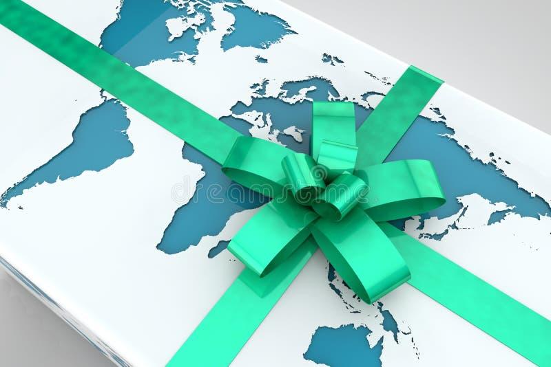 地球礼品 向量例证