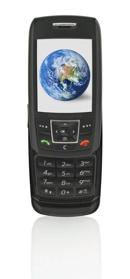 地球移动电话 库存图片