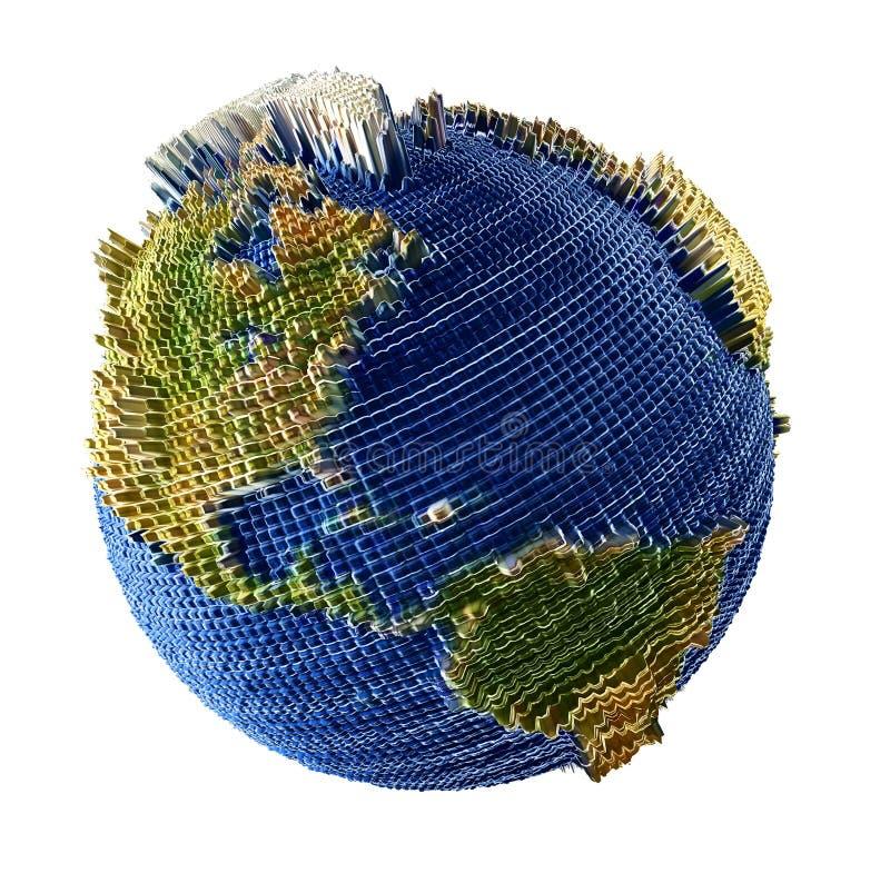 地球空间视图 库存例证
