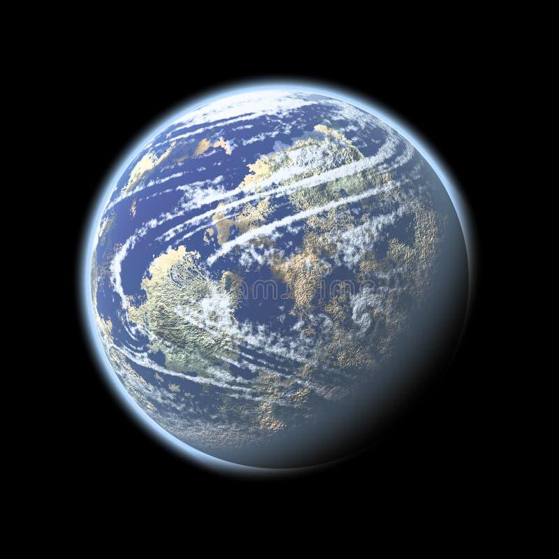 地球空间 库存例证