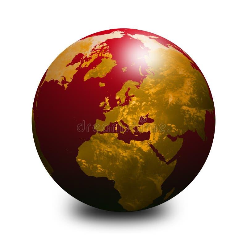 地球红色世界 向量例证
