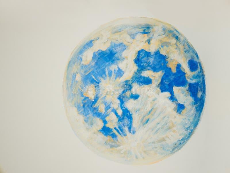 地球绘画在白色背景的 向量例证
