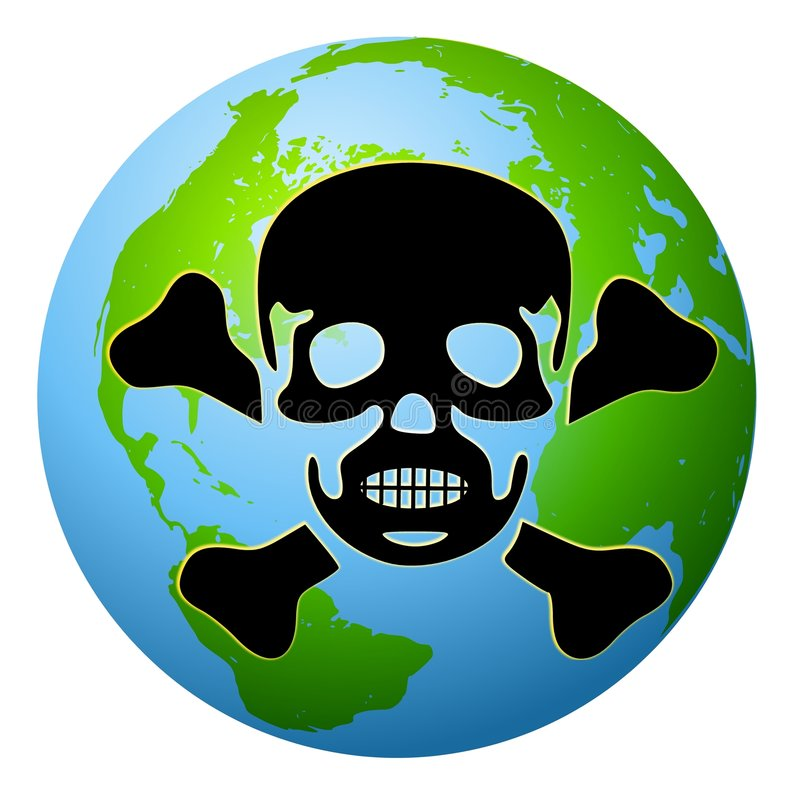 地球综合症状含毒物 皇族释放例证
