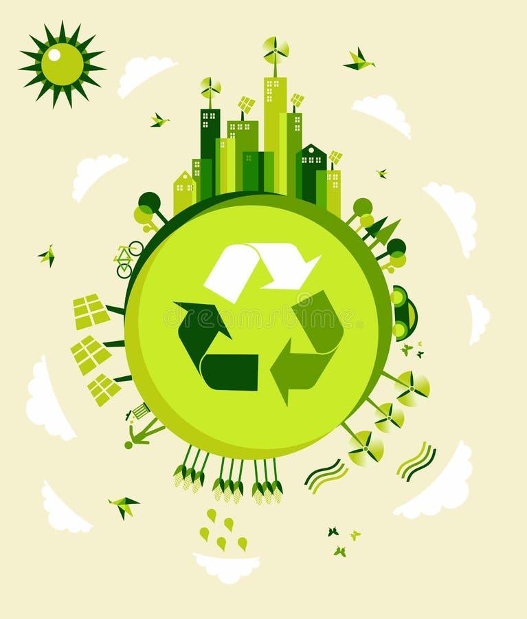 地球绿色例证 向量例证