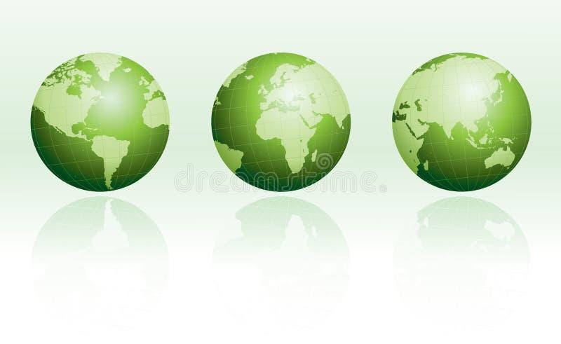地球绿色反映设置了 向量例证