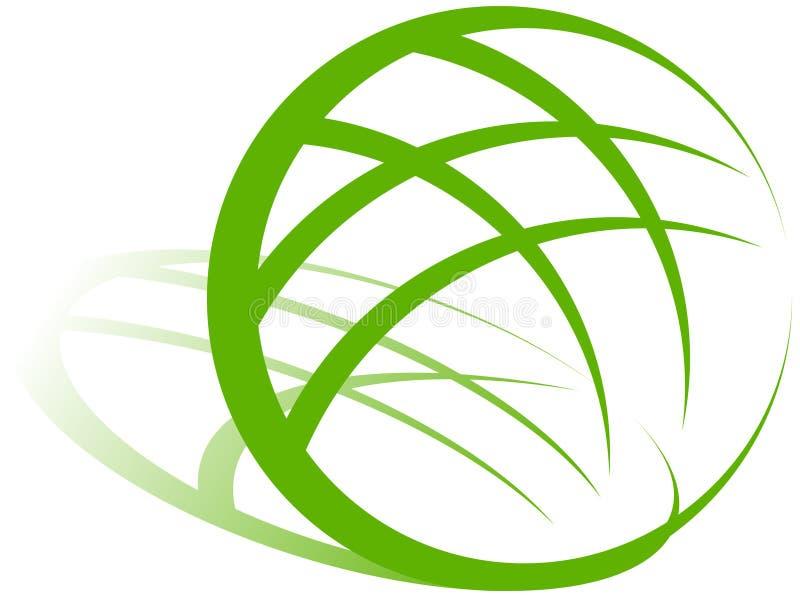 地球绿色徽标 库存例证