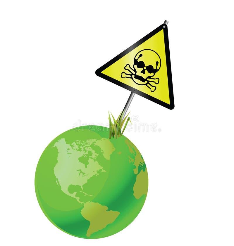 地球绿色符号含毒物 库存例证