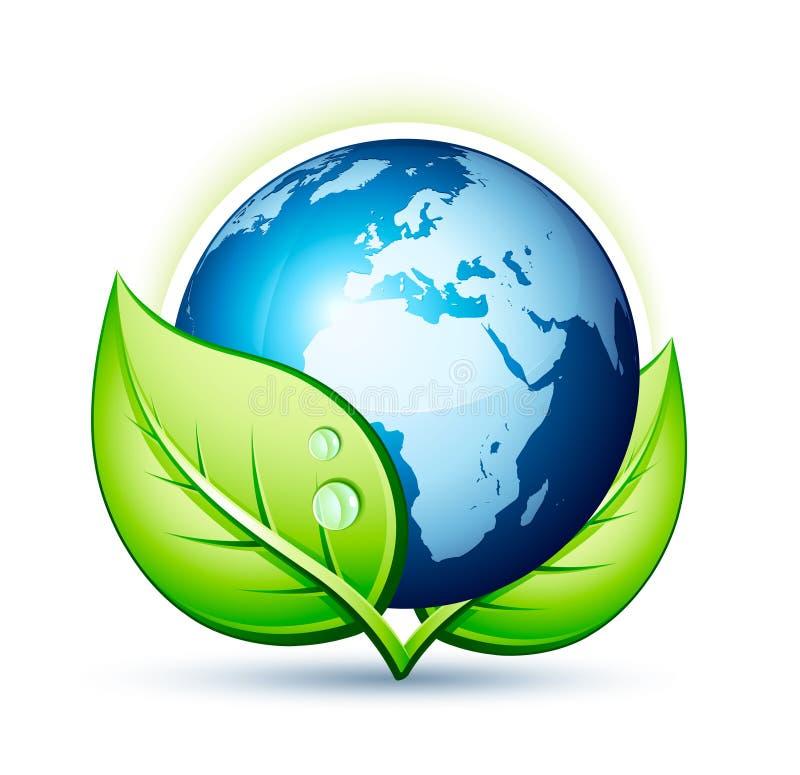 地球绿色行星 向量例证
