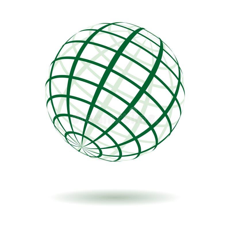 地球绿色镶边向量 皇族释放例证