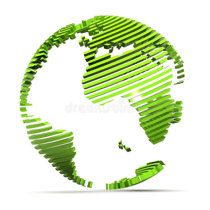 地球绿色 皇族释放例证