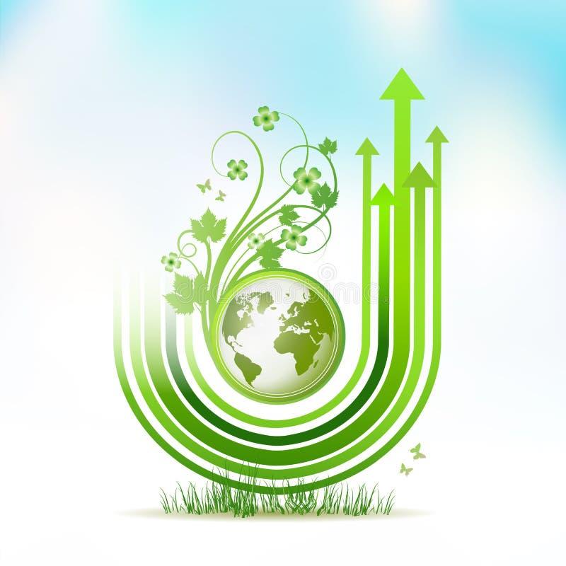 地球绿色 向量例证