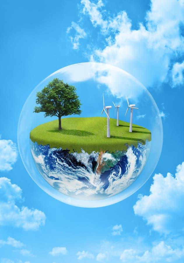 地球绿色 库存例证