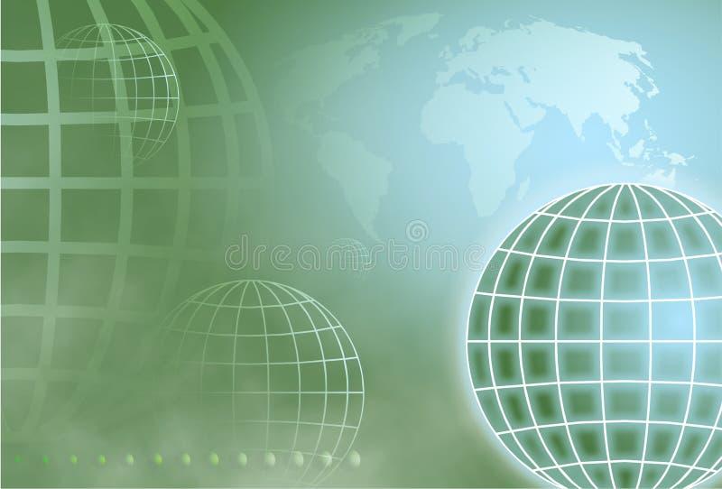 地球网格 向量例证