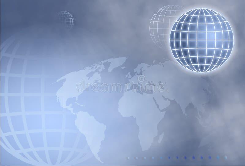 地球网格 库存例证