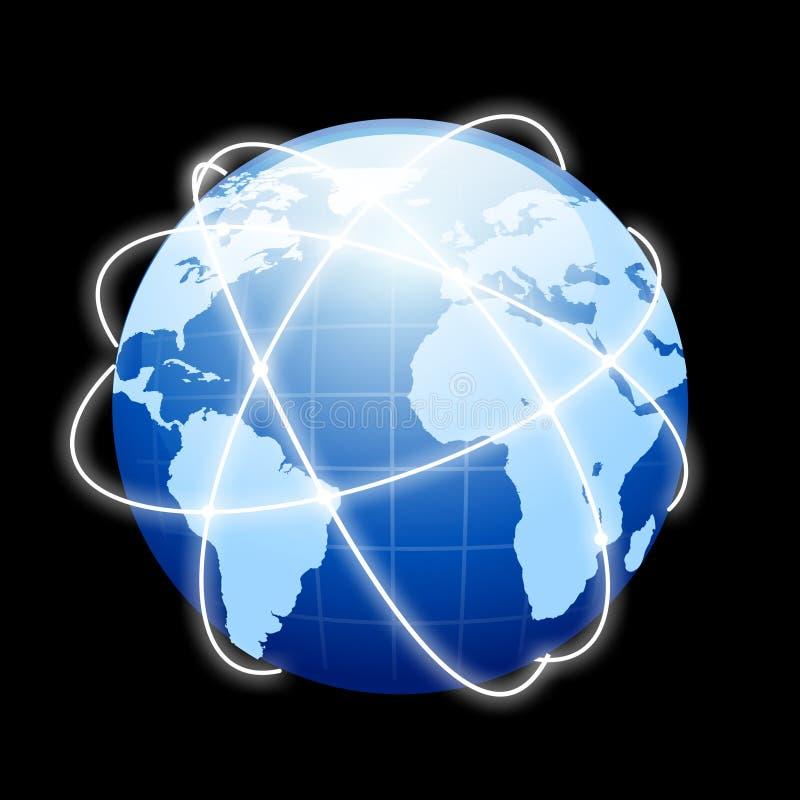 地球网络连接 库存照片