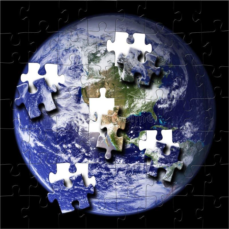 地球美国航空航天局照片难题 库存例证