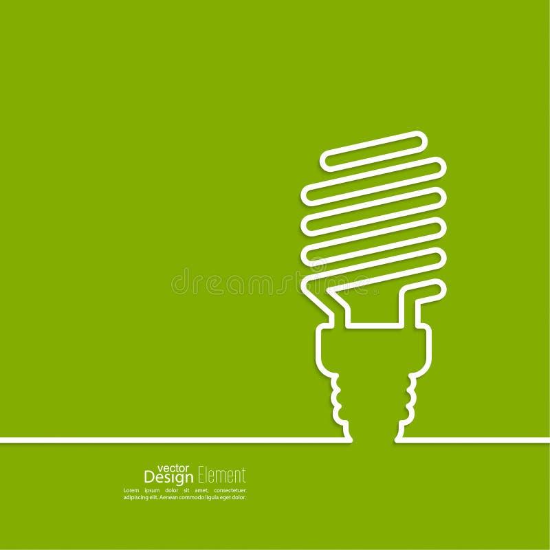 地球能源闪亮指示保存节省额 库存例证
