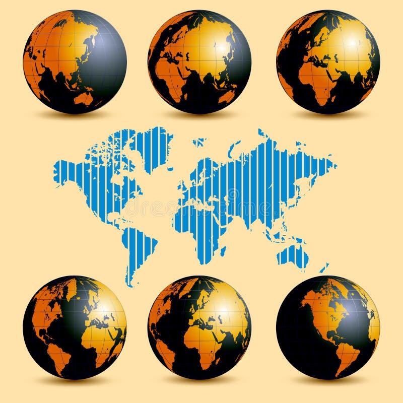 地球自转 库存例证