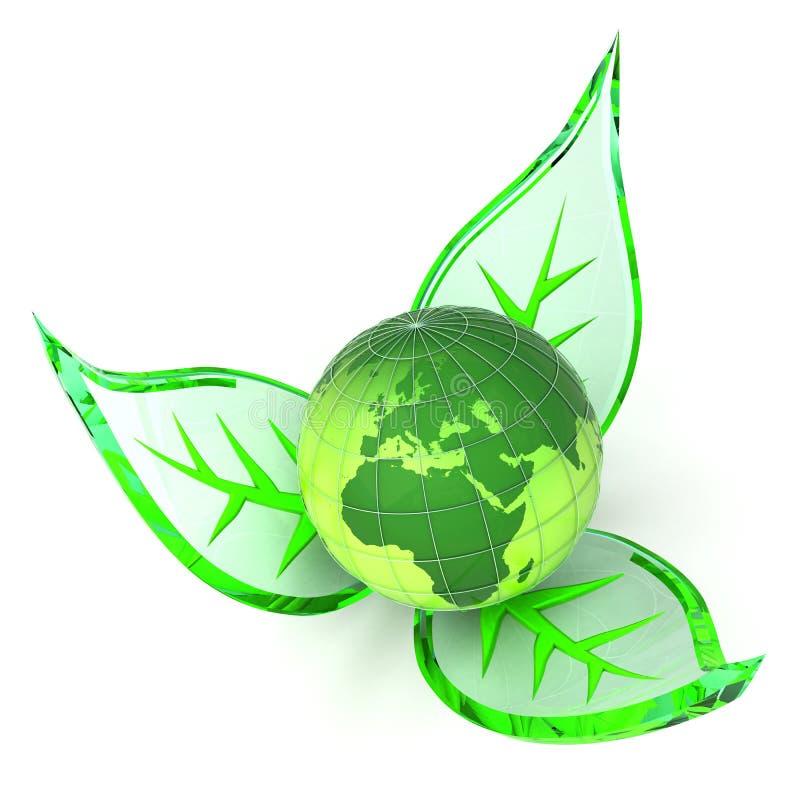 地球花绿色 库存例证