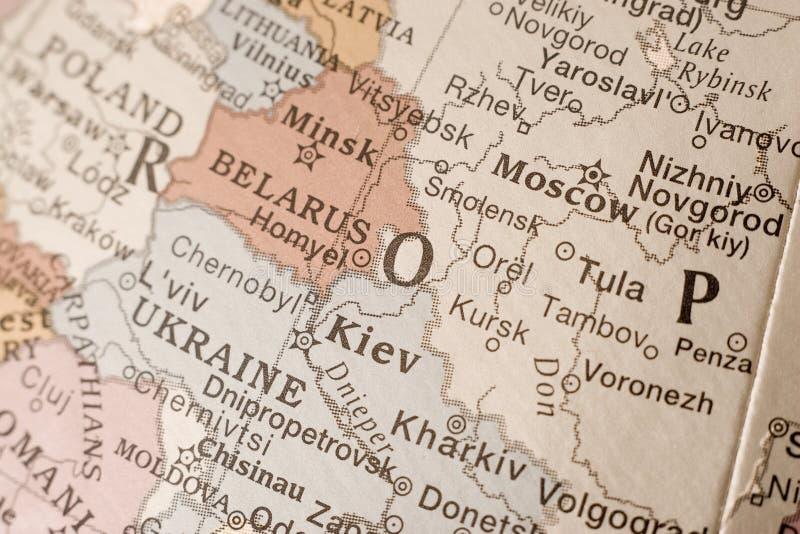 地球莫斯科 免版税库存图片
