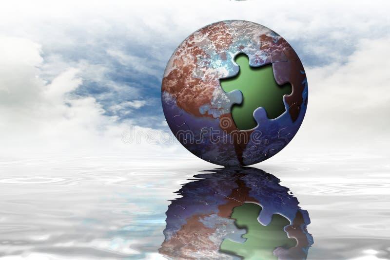地球营销行星 库存例证