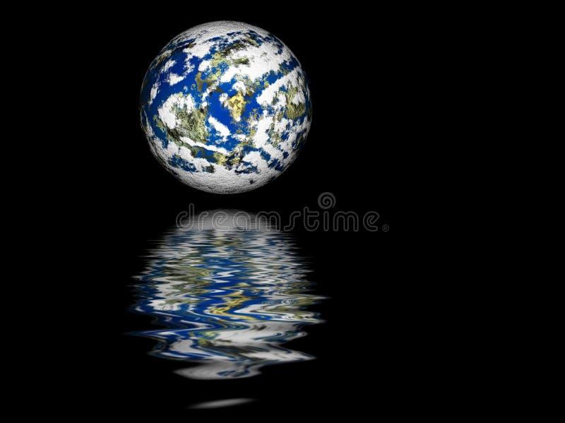 地球行星反映 向量例证