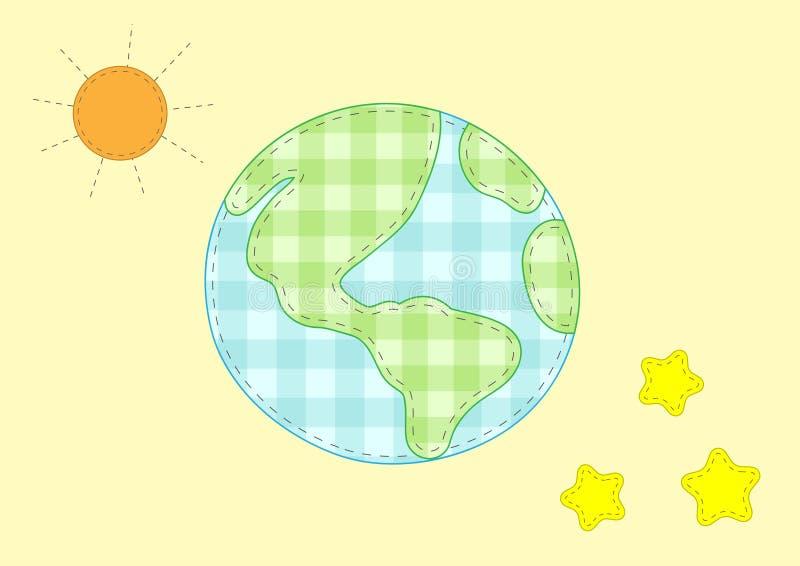 地球行星担任主角星期日 库存照片