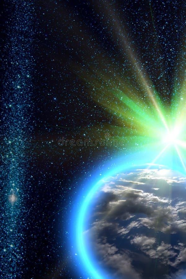 地球行星星期日 免版税图库摄影