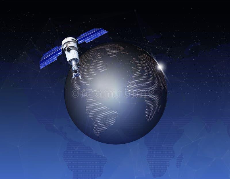 地球行星空间日出 空间背景 库存例证
