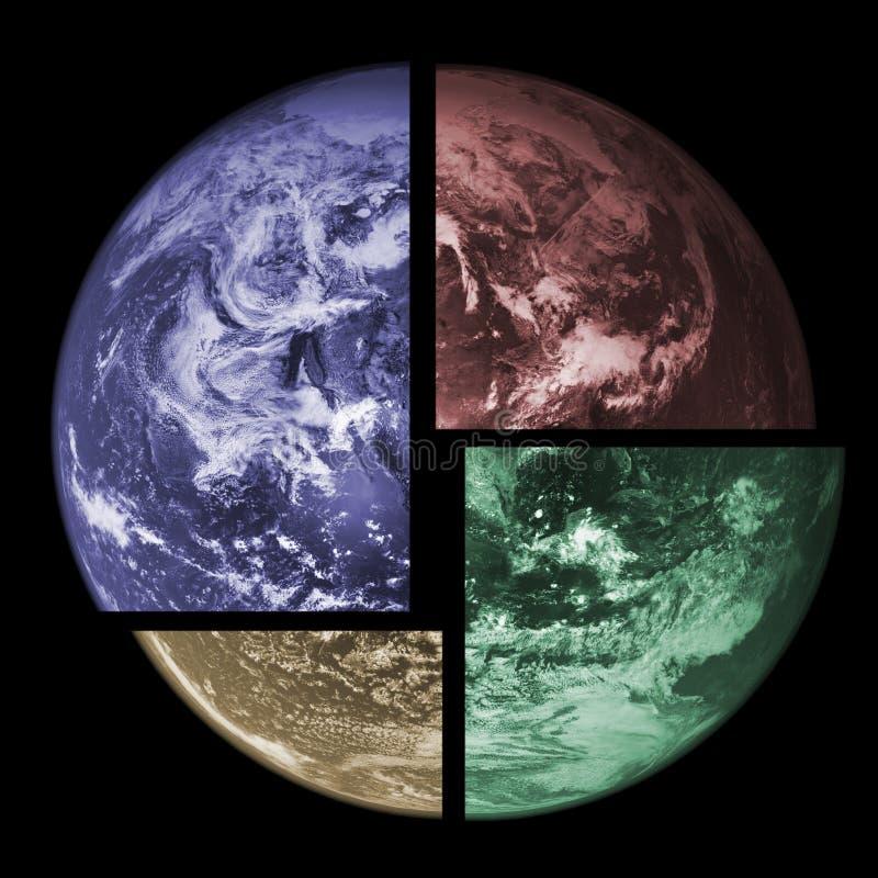 地球行星系列 向量例证