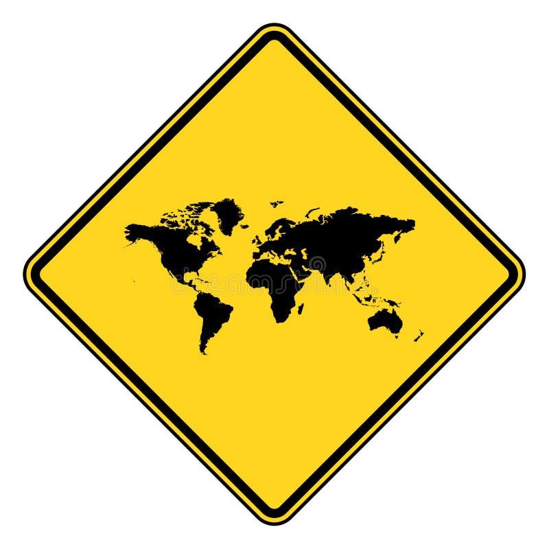 地球行星路标 皇族释放例证