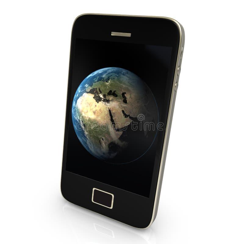 地球行星smartphone 免版税库存图片